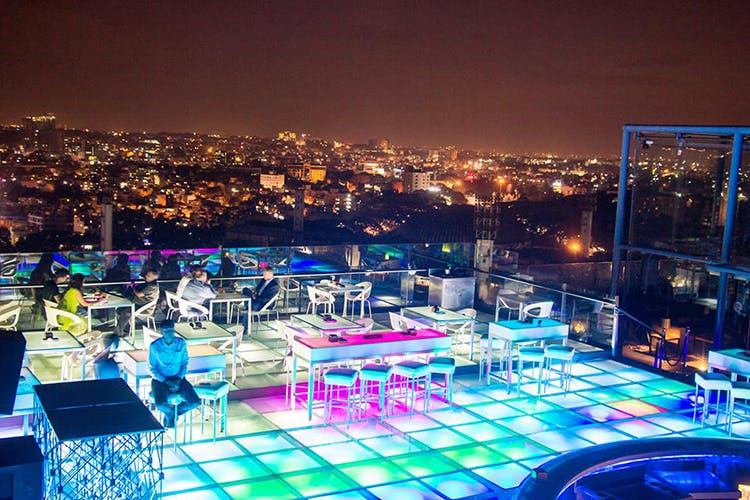 rooftop candle light dinner in Bangalore, candle light dinner in bangalore, best candle light dinner in bangalore